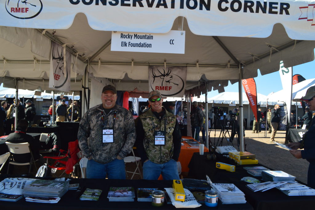 The Rocky Mountain Elk Foundation was a hit at both Industry Day on the Range and SHOT Show. Dan and Bob were happy to share hunting tips, stories, and swag, in addition to welcoming new members and promoting conservation. (Photo: Kristin Alberts/Guns.com)