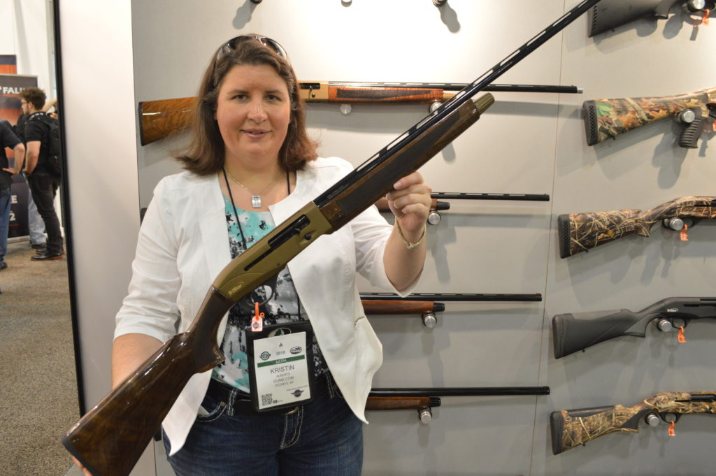 """TriStar showed off the final piece to it's Viper G2 lineup, with this Bronze model .410. The baby bore wears a 28"""" barrel with an MSRP of $749. (Photo: Kristin Alberts/Guns.com)"""