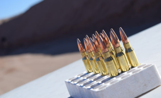 Lonely leftover 5.56 rounds waiting to fly down range. (Photo: Daniel Terrill/Guns.com)