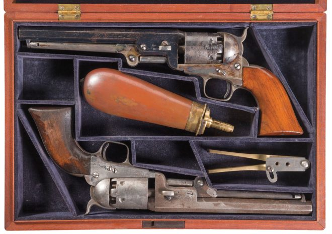 Curious set of matching Colt revolvers up for grabs at auction