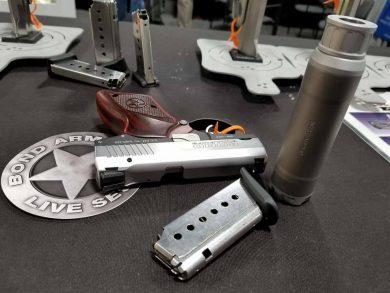 Bond Arms Bullpup 9 and suppressor prototype