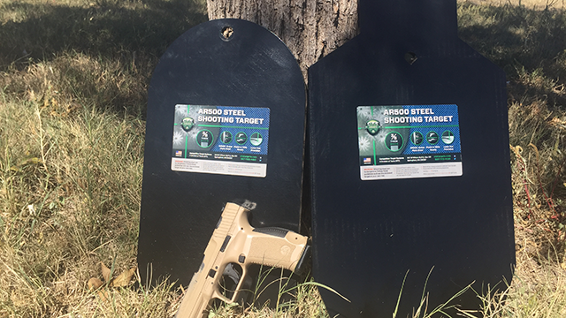 CTS targets can be used for rifle or pistol work. (Photo: Eve Flannigan)