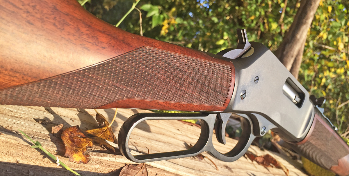 Checkered walnut adds class and grip to the Henry Big Boy chambered in .44 magnum. (Photo: Team HB)