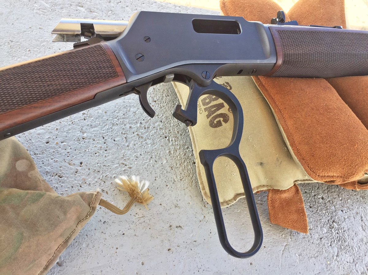 Henry Big Boy rifles feature a traditional loop handle. (Photo: Team HB)