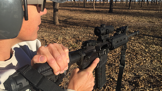 The HABU offers advantages on a milspec stock tube. (Photo: Team HB)