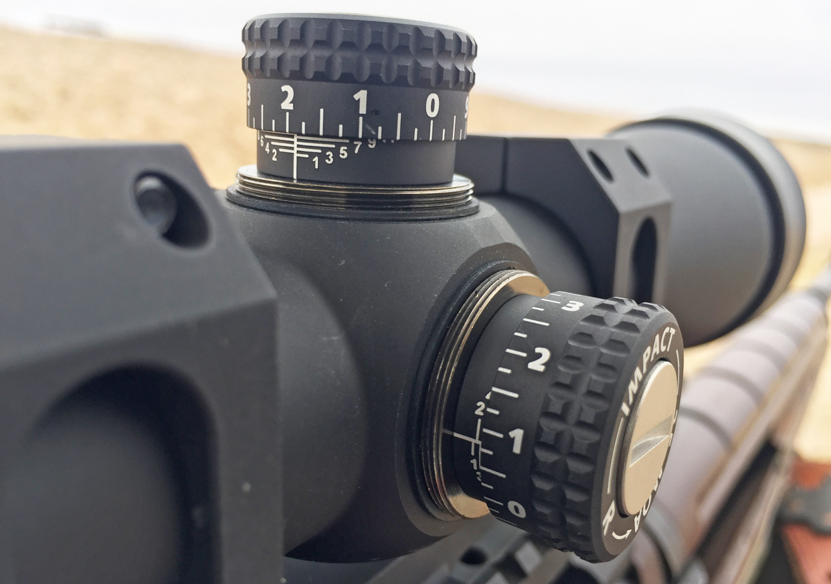 Though the turrets lack zero-stop capability, incremental numbered lines help shooters keep track of the number of trips around. (Photo: Eve Flanigan/Guns.com)