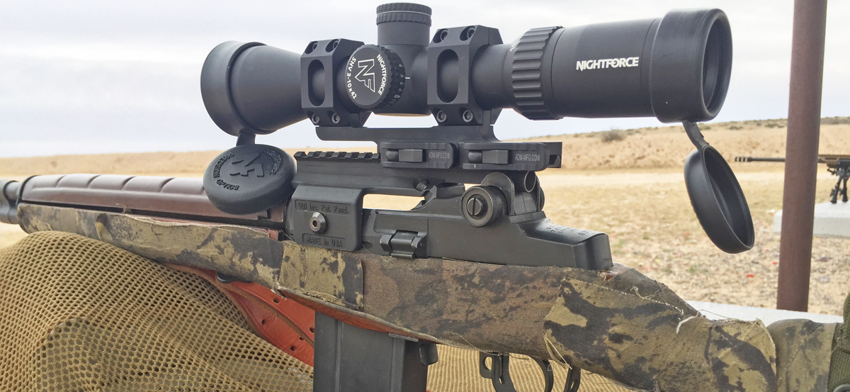 Nightforce includes both these field-ready, shade-making lens covers with the SHV, as well as simple over-the-housing plastic ones. (Photo: Eve Flanigan/Guns.com)